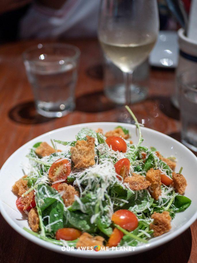 Arugula Caesar Salad