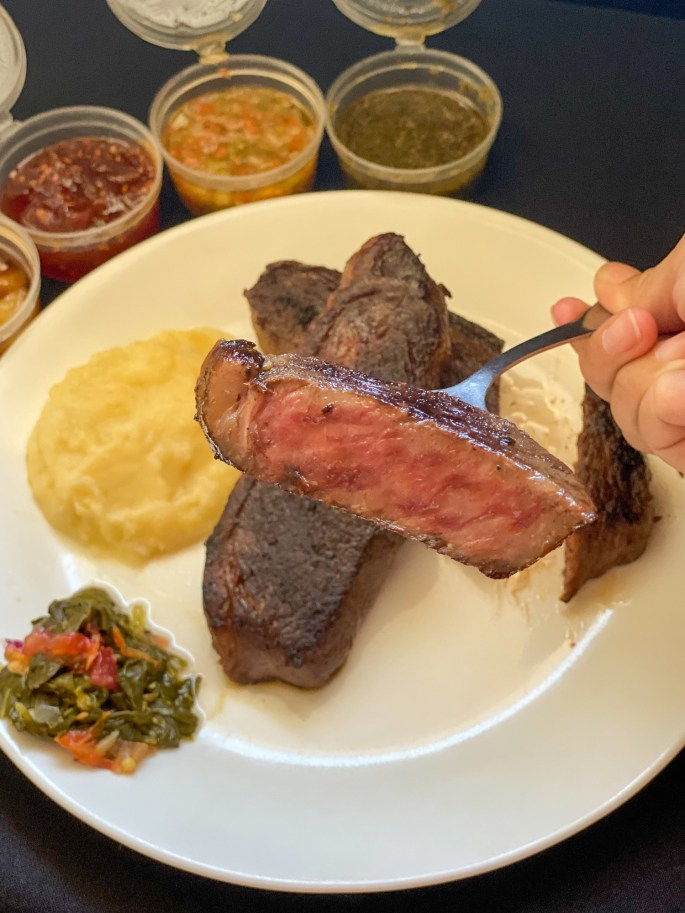 Grill Ready Frozen Steaks Cuadril 500g Coulotte (₱2,885) with Chimichurri, Caramelized Garlic, Tomato Chutney, Criolla Salsa)