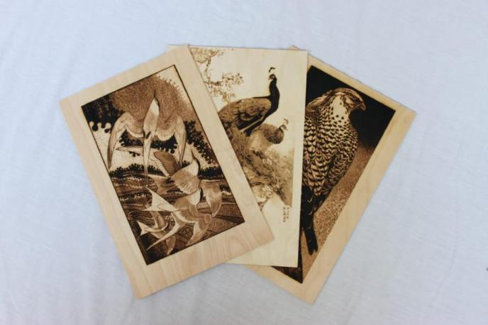 High resolution wood engravings
