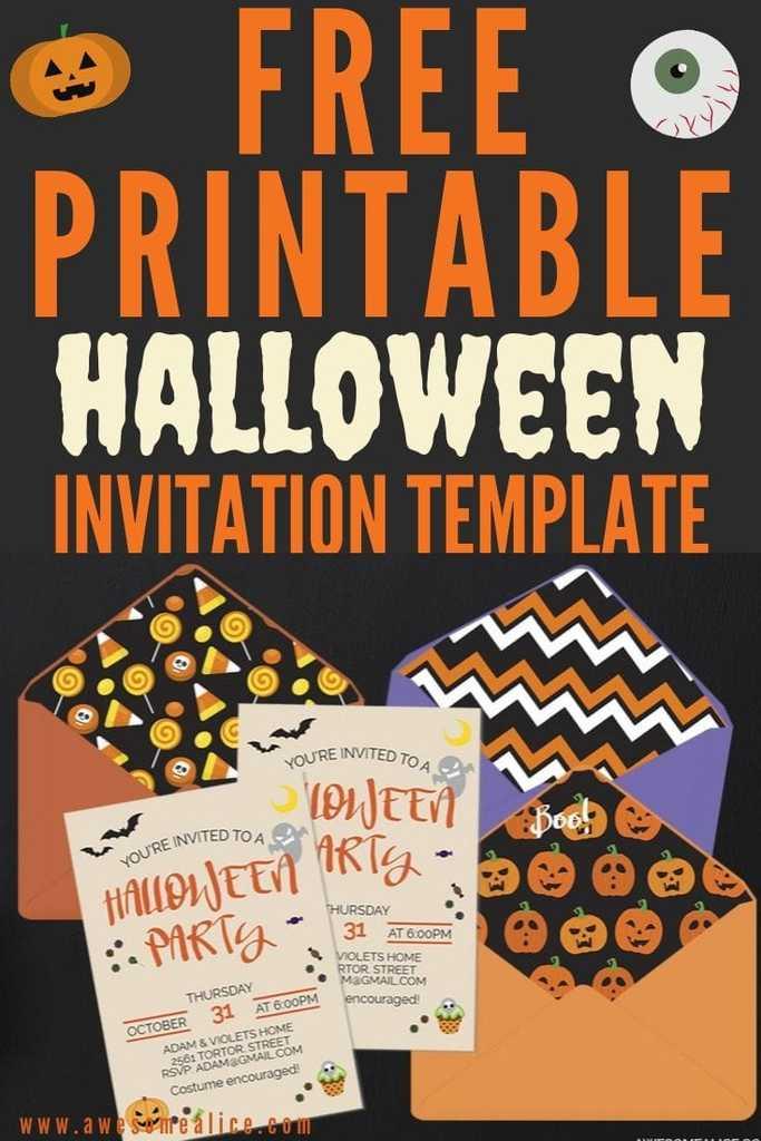 free editable halloween party