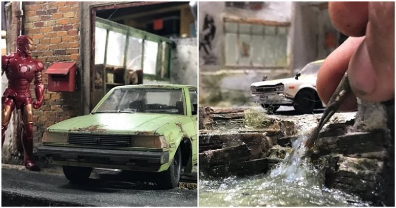 This Amazing Artist Sets Realistic Dioramas That Depict