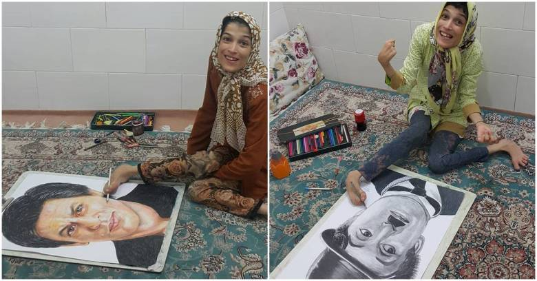 Fateme Hamami Nasrabadi 28-year-old Paralyzed Artist
