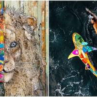 Artist Creates Awareness About Environmental Pollution Through Recycled Plastic Art