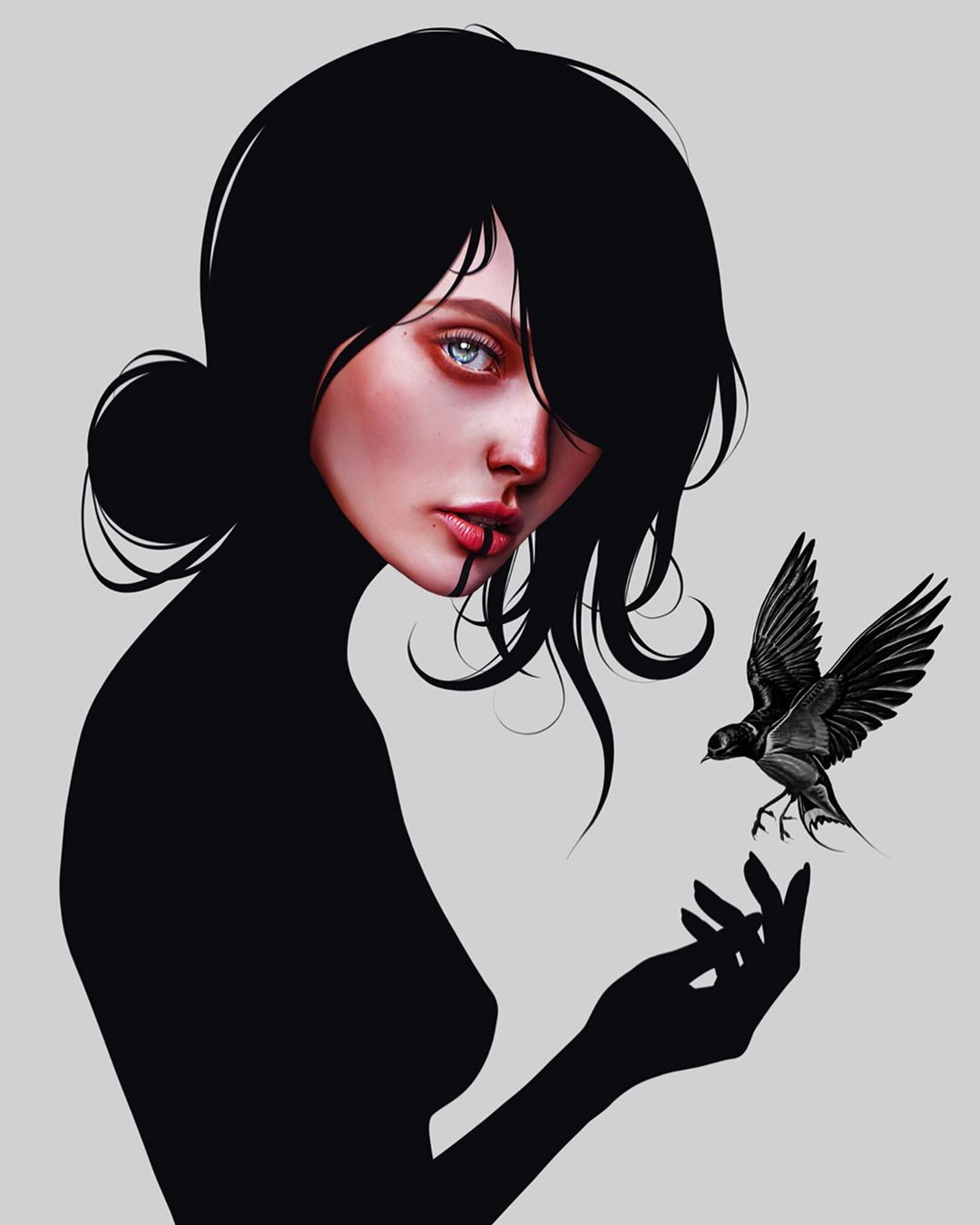 26-Year-Old Digital Artist With Model Looks Creates Stunning Female Illustrations On Tablet 4