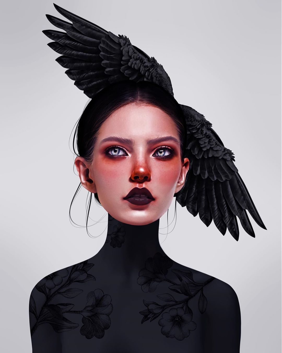 26-Year-Old Digital Artist With Model Looks Creates Stunning Female Illustrations On Tablet 7