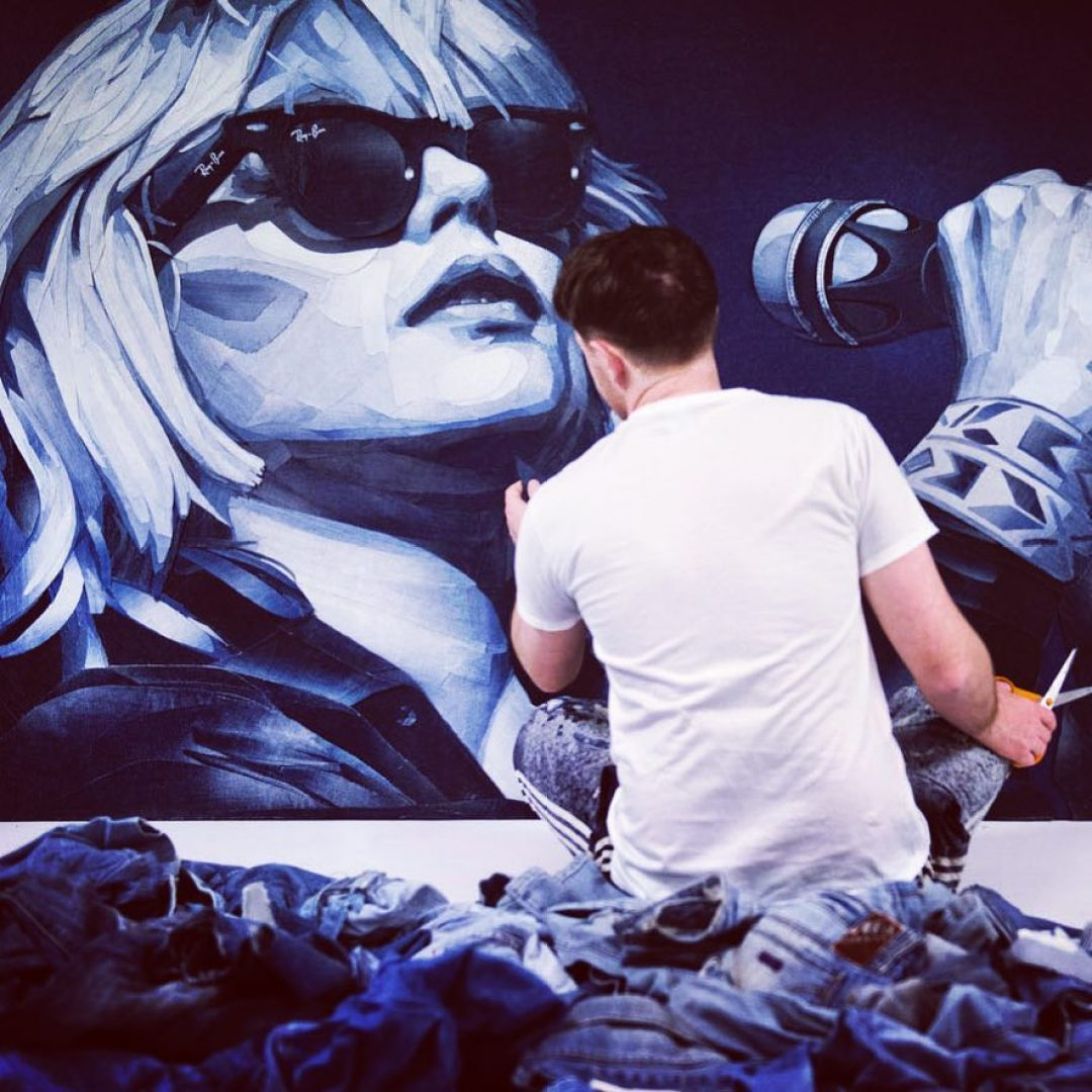 Artist Creates Stunning Works Of Art From Pieces Cut Out Of Denim Jeans 9