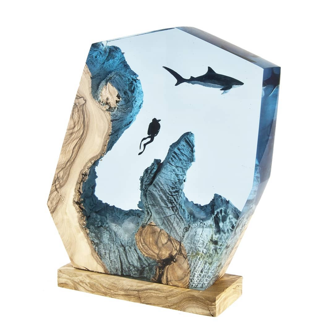Turkish Artist Beautifully Creates Underwaters Imaginative Scenes With Resin And Wood 8