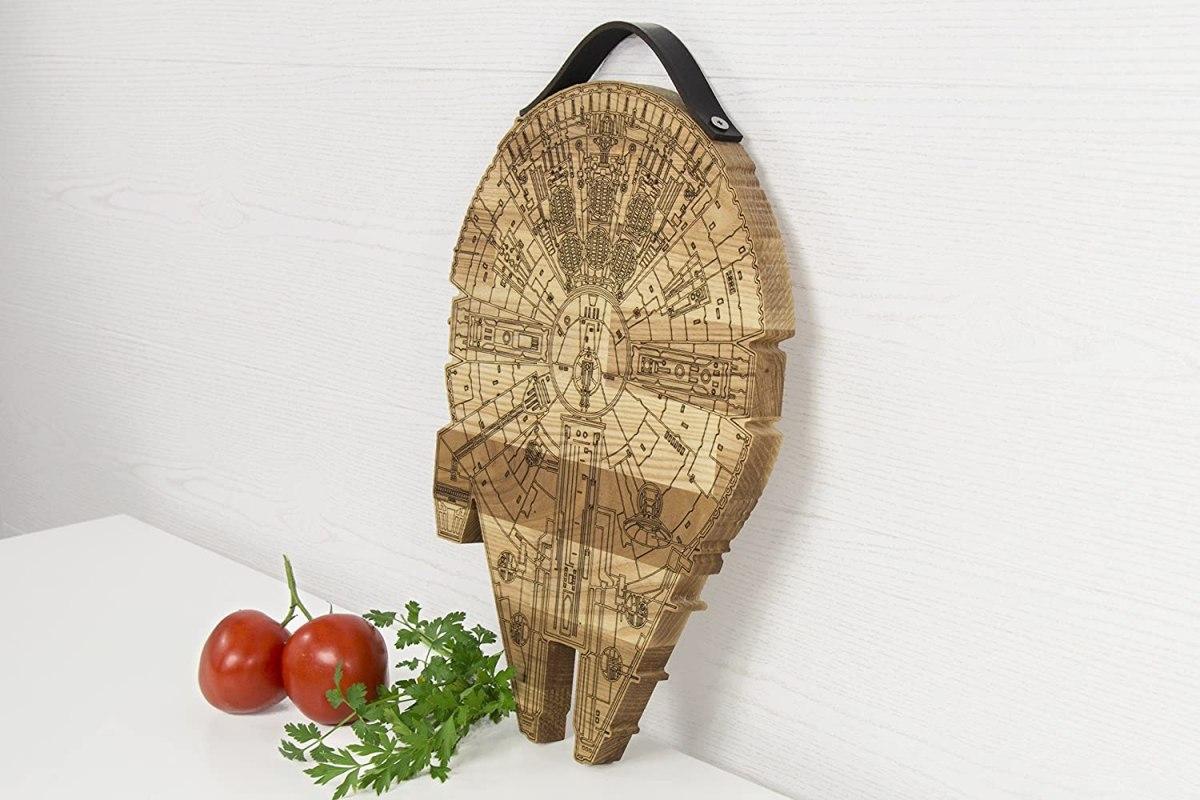 millennium falcon wooden cutting board 6