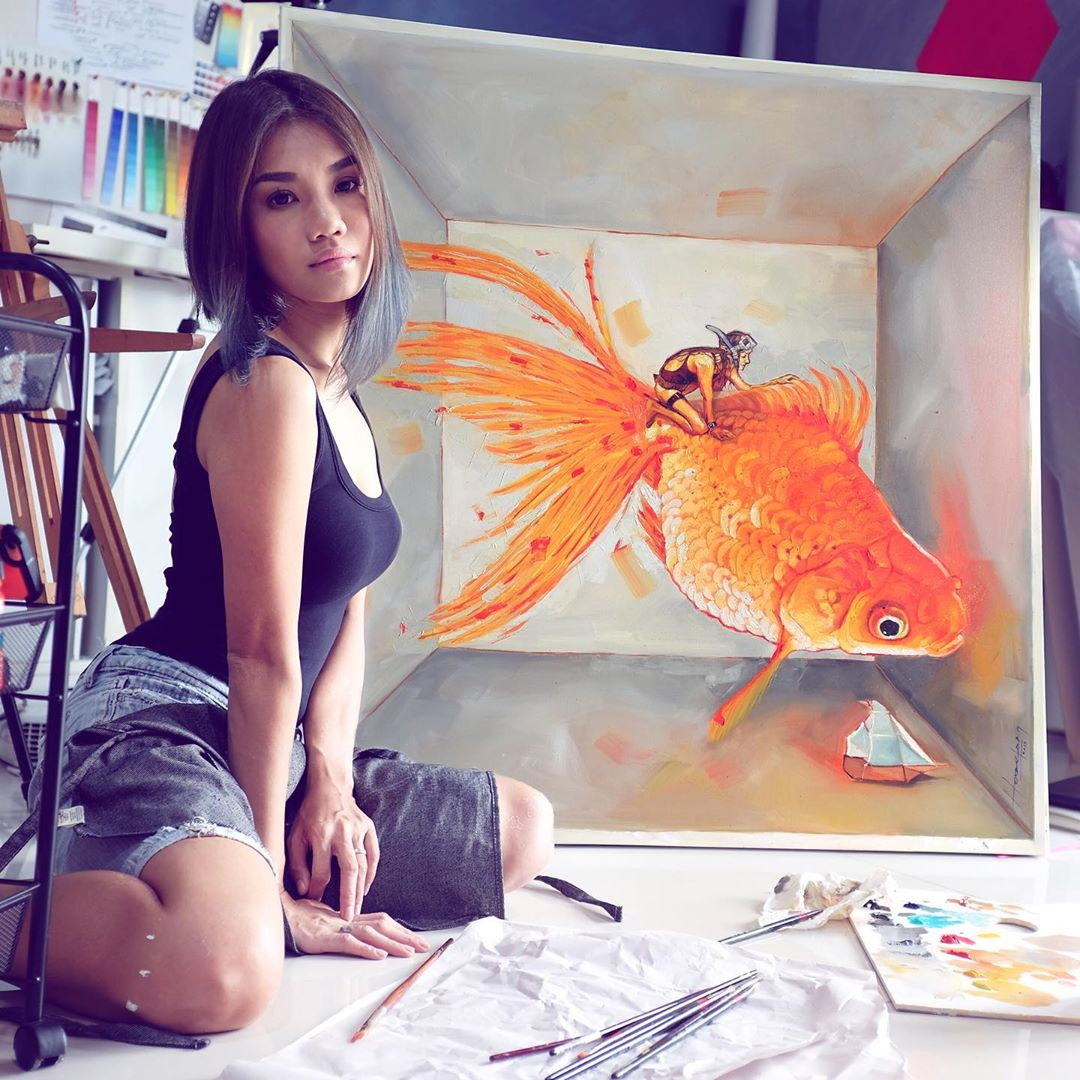 Malaysian Make-Up Artist Transforms Herself Into Artist And Speed Painter 8