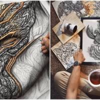 Maldivian Artist Creates Lifelike Creatures Through Zentangle Art