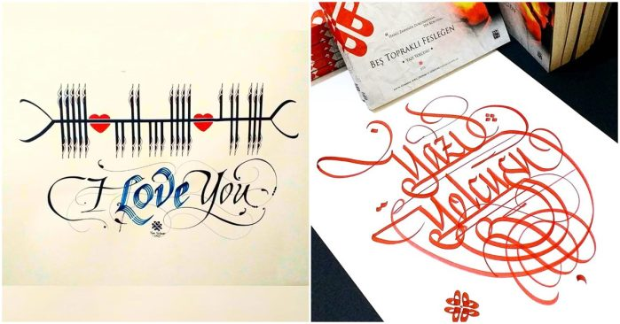 yazi yolcusu fork calligraphy