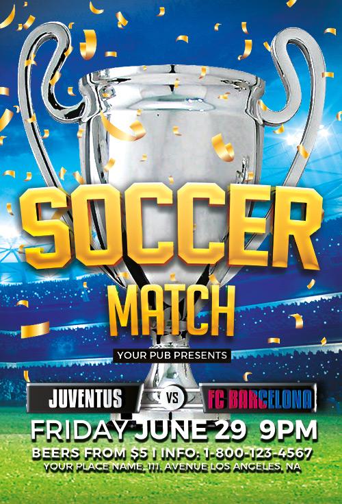 Soccer Tournament Flyer Template Download Soccer PSD