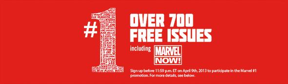 Marvel 700 Comics Give-away