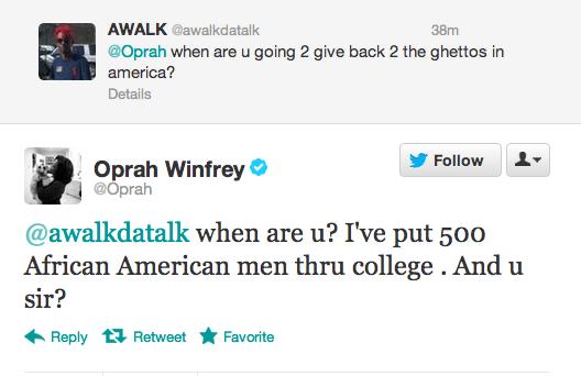 Oprah Clapped Back
