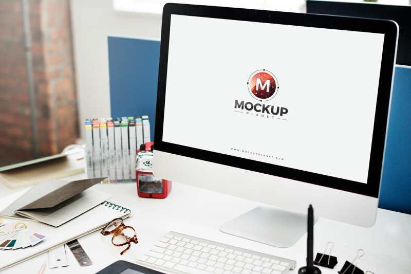 Computer Mockup For Website Screen Presentation Awesome Mockups