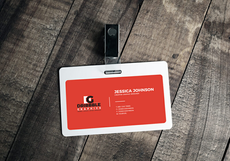 plastic id card badge mockup awesome mockups