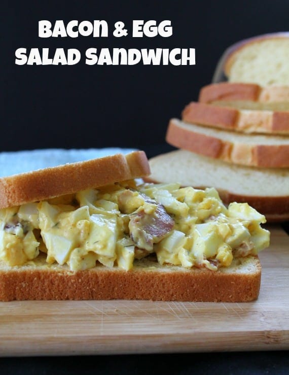 Bacon & Egg Salad Sandwich from Awesome on 20
