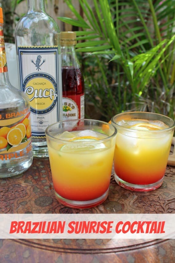 Brazilian Sunrise Cocktail from Awesome on 20