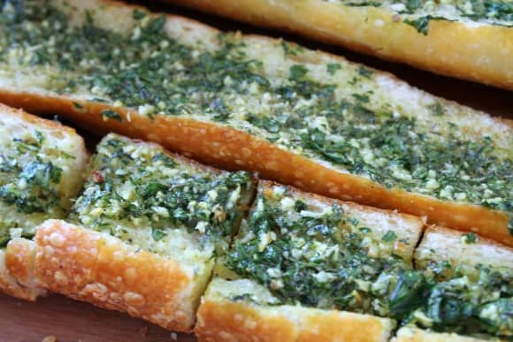 Garlic Herb Toast   How to be Awesome on $20 a Day