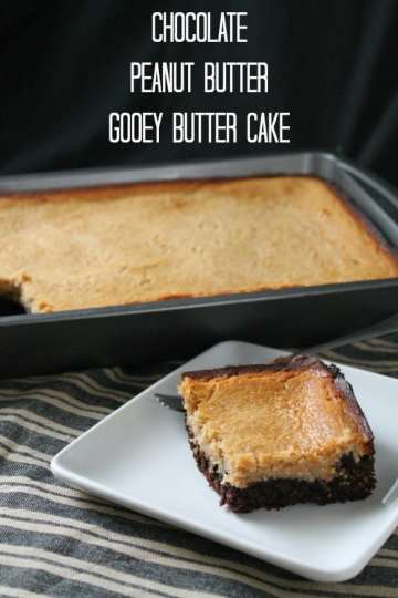 Chocolate Peanut Butter Gooey Butter Cake   How to be Awesome on $20 a Day