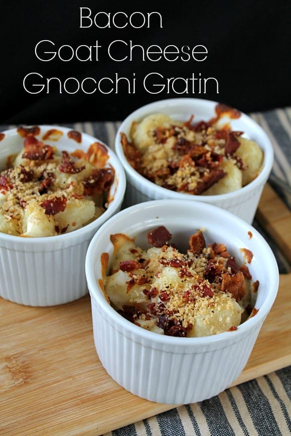 Bacon Goat Cheese Gnocchi Gratin | How to be Awesome on $20 a Day