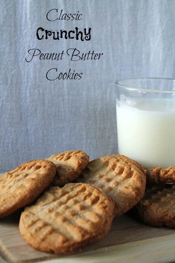 Classic Crunchy Peanut Butter Cookies