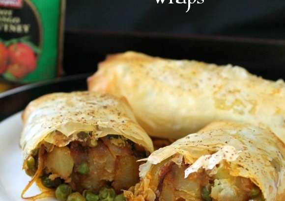 Indian Spiced Pea & Potato Wraps   How to be Awesome on $20 a Day