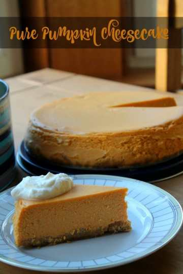Pure Pumpkin Cheesecake | How to be Awesome on $20 a Day