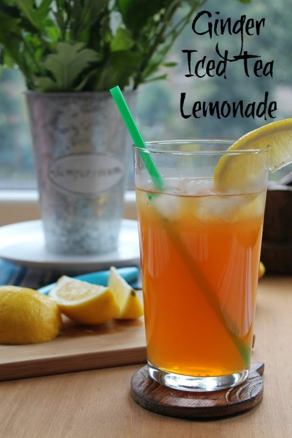 Ginger Iced Tea Lemonade | How to be Awesome on $20 a Day