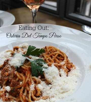 Eating Out: Osteria Del Tempo Perso