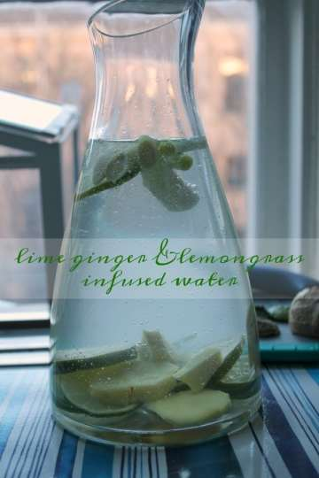Lime Ginger & Lemongrass Infused Water   How to be Awesome on $20 a Day