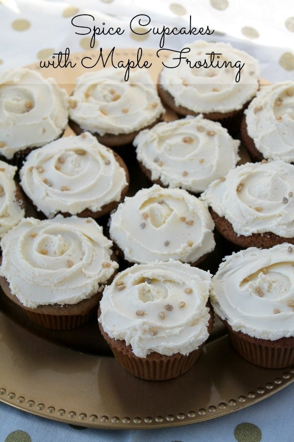 Spice Cupcakes with Maple Frosting | How to be Awesome on $20 a Day