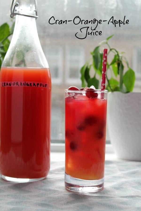 Cran-Orange-Apple Juice   How to be Awesome on $20 a Day