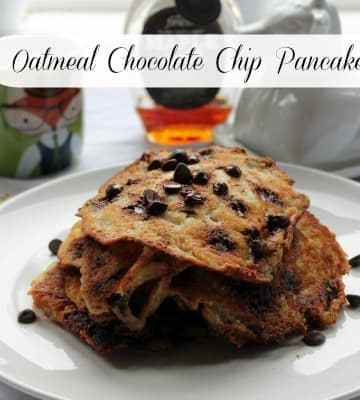 Oatmeal Chocolate Chip Pancakes | How to be Awesome on $20 a Day