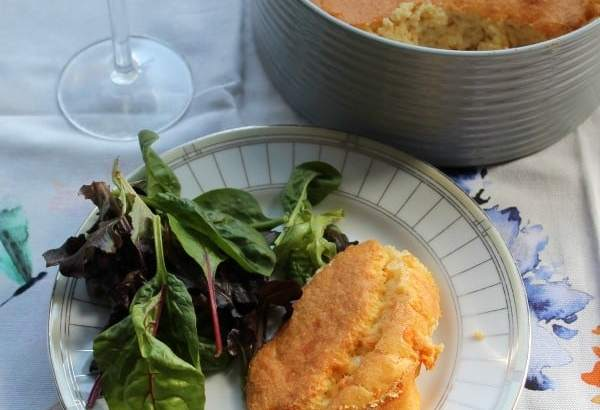 White Cheddar Polenta Souffle | How to be Awesome on $20 a Day