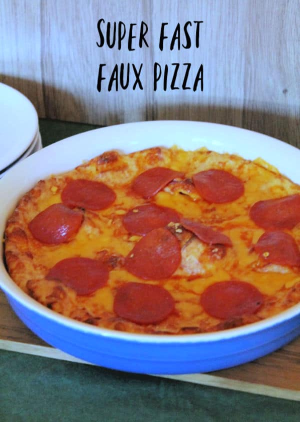 Super Fast Faux Pizza | How to be Awesome o $20 a Day