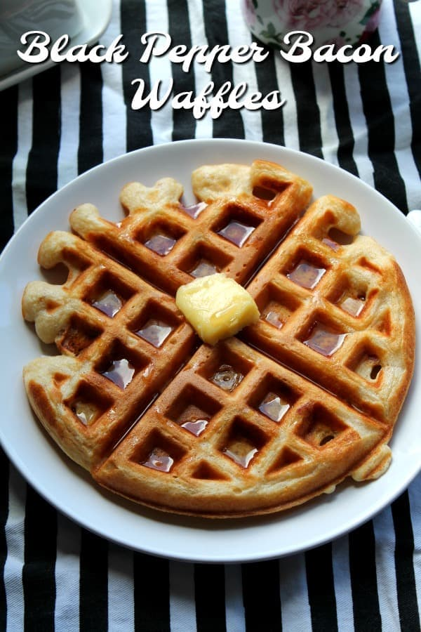 Black Pepper Bacon Waffles | How to be Awesome on $20 a Day