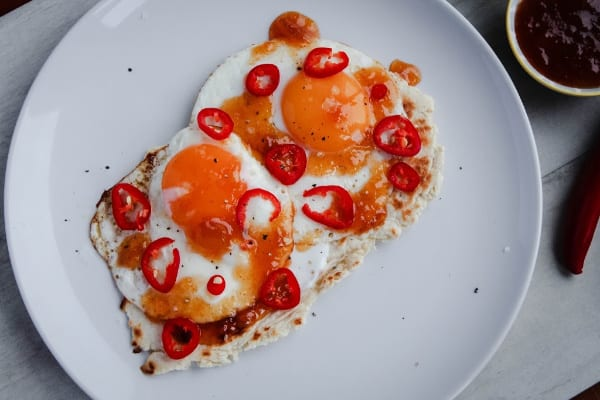 Egg & Mango Chutney Flatbread | How to Be Awesome on $20 a Day