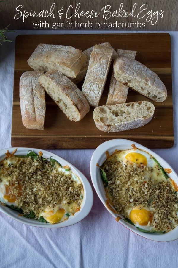 Spinach & Cheese Baked Eggs   How to Be Awesome on $20 a Day