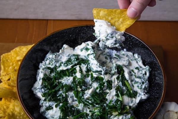 Creamy Garlic Spinach Dip