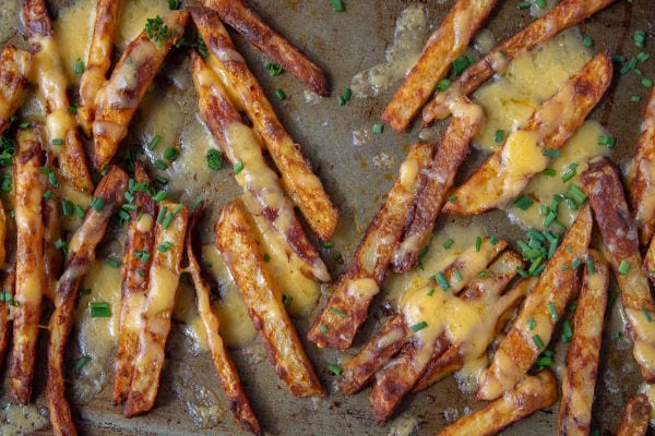 Spicy Cheese Fries from above
