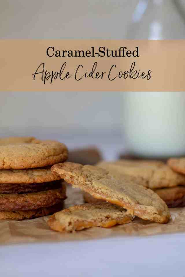 Caramel-Stuffed Apple Cider Cookies