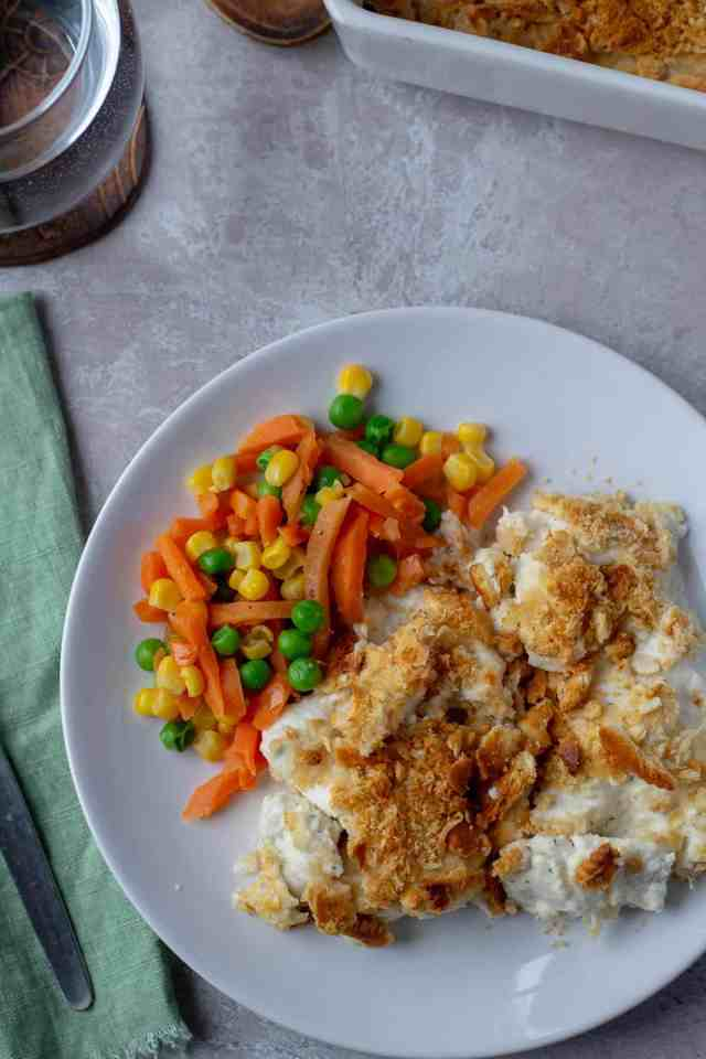 Garlic & Herb Baked Chicken with vegetables
