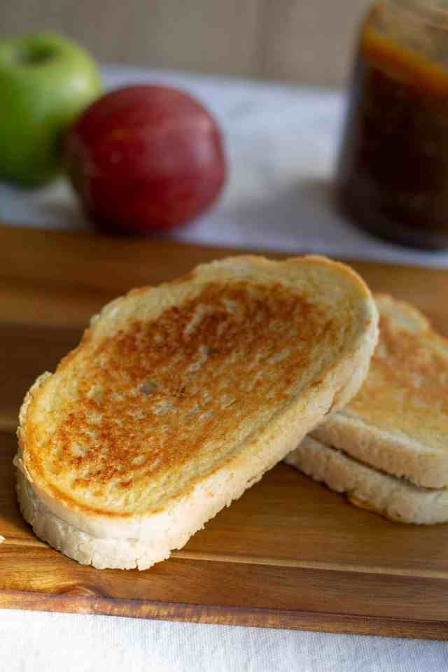 Apple Butter & Sharp Cheddar Grilled Cheese whole