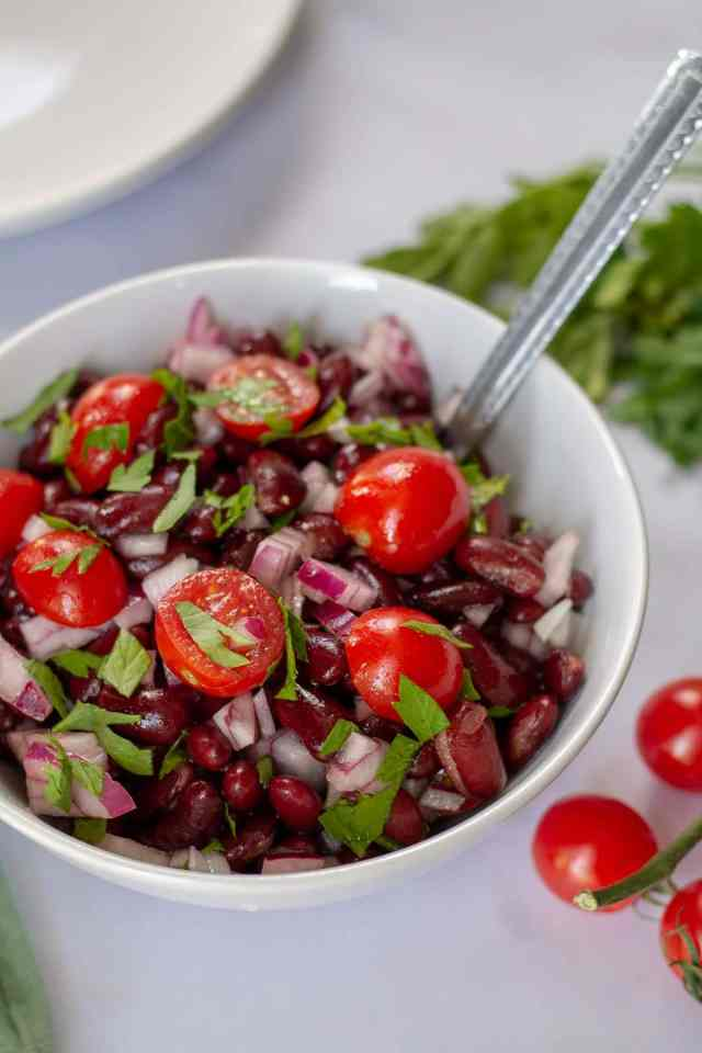Red Bean Salad in a bowl