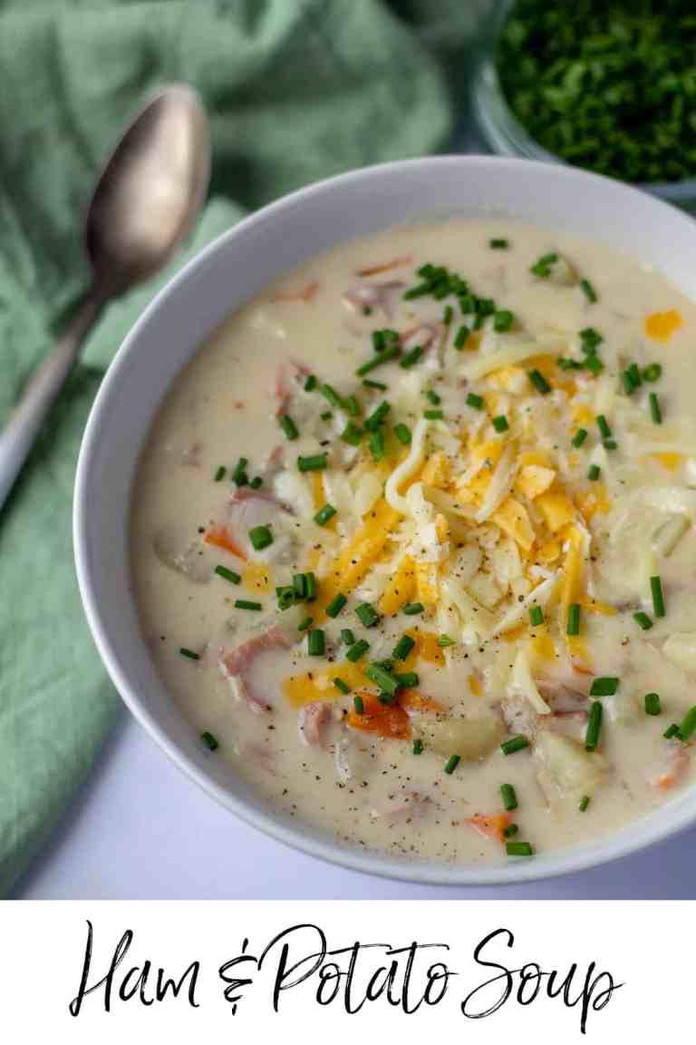 Ham & Potato Soup with text