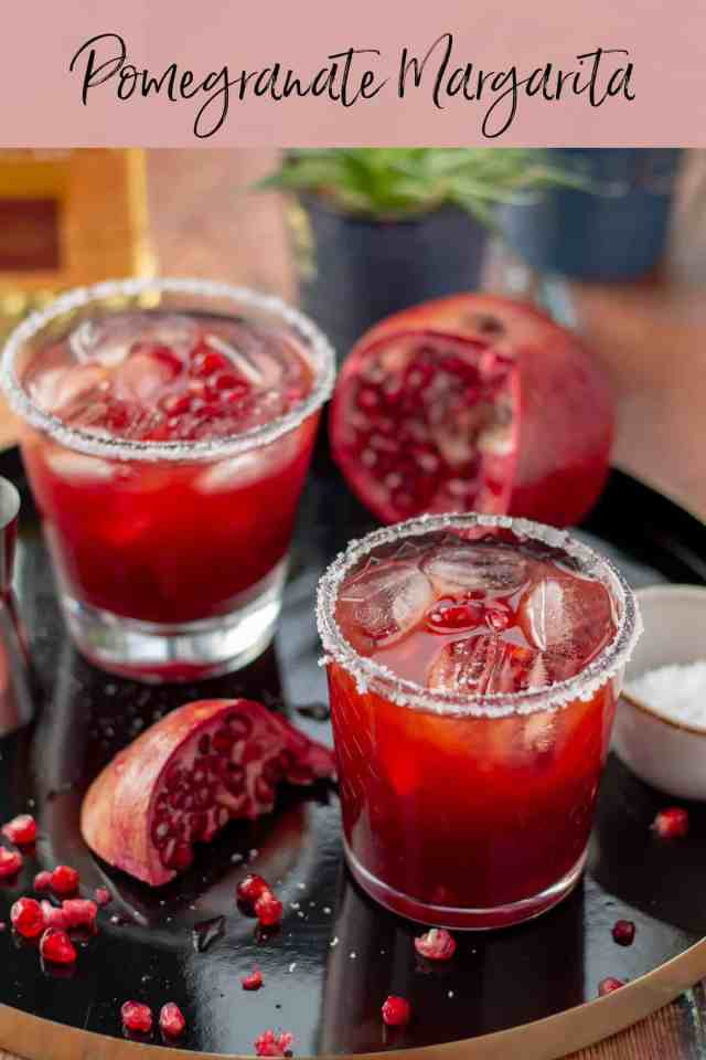 Pomegranate Margarita with text