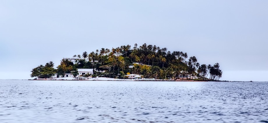 Small island with houses