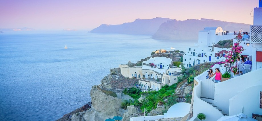Town of Oai in Santorini Greece