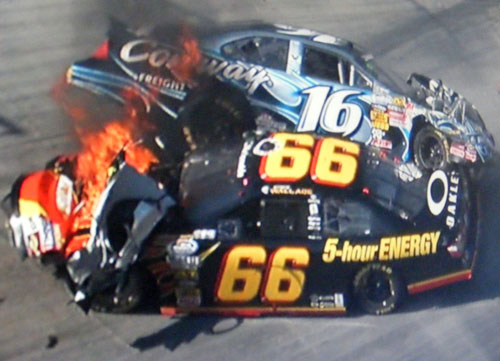 steve wallace and colin braun wreck at bristol